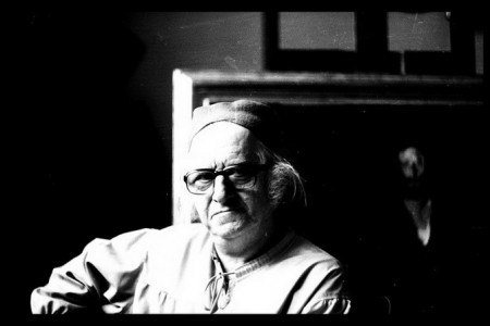 Corneliu Baba in atelier 1979 (foto Traian Jebeleanu)