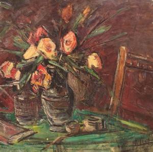 Iosif_Rosenblut_natura_statica_trandafiri_si_pipa