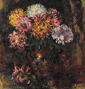 Octav_bancila_vas_cu_crizanteme
