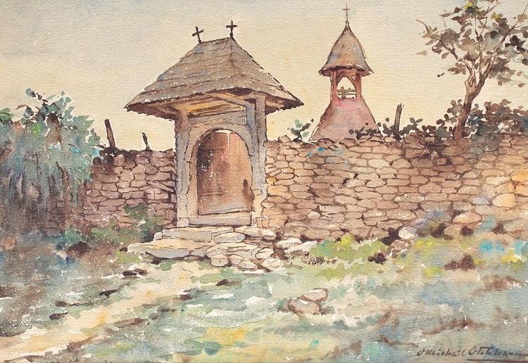 Otilia_Michail_Otetelesanu_portita_veche_spre_clopotnita_satului