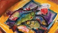 emilia_dumitrescu_natura_statica_cu_pesti_multicolori