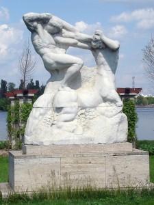ion_jalea_lupta_lui_hercule_cu_centaurul_Herastrau_Bucuresti