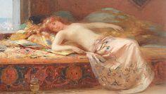 pierre_auguste_belllet__interior_romantic_odalisca_la_constantinopole