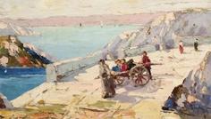 Rudolf_Negely_Copii_jucându-se-pe_pod-_în_insula_Capri