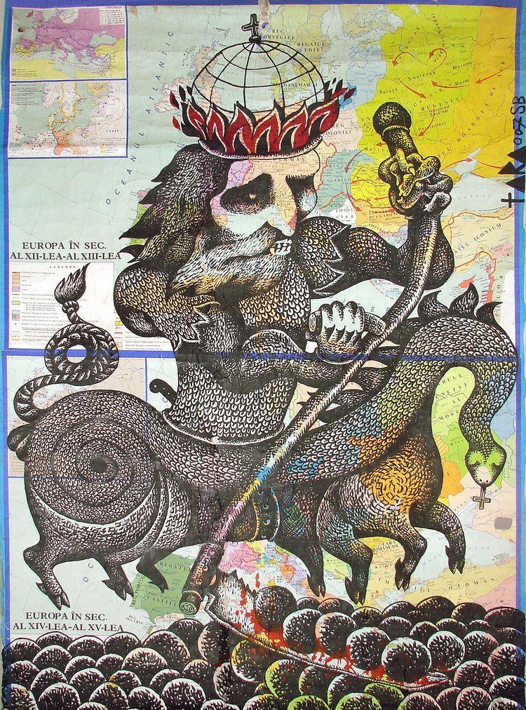 01 Tara - Povara a 2000 de ani de crestinism I, desen, 178 x 133 cm, 2007