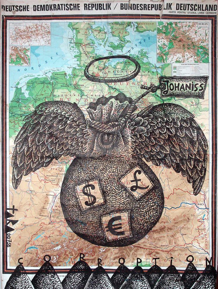 02 Tara - Sibiu, Capitala europeana a coruptiei 2007, desen, 185 x 130 cm, 2007