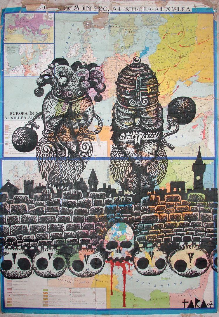 05 Tara - Europe I, desen, 190 x 130 cm, 2007