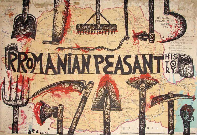 15 Tara - Rromanian Peasant History- desen 130 x 190 cm- 2007
