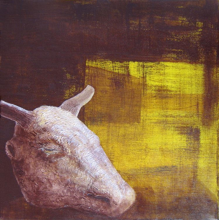 Alexandru Radvan - Noapte de sulf, acrilic pe panza, 35 x 35 cm, 2005