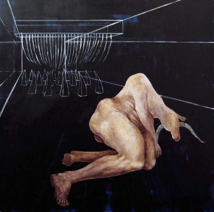 Alexandru Radvan - Stomarda, acrilic pe panza, 100 x 100 cm, 2005