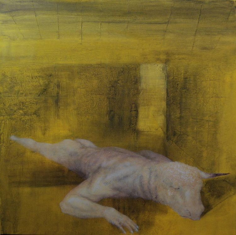 Alexandru Radvan - Sulf, acrilic pe panza, 200 x 90 cm, , 2005