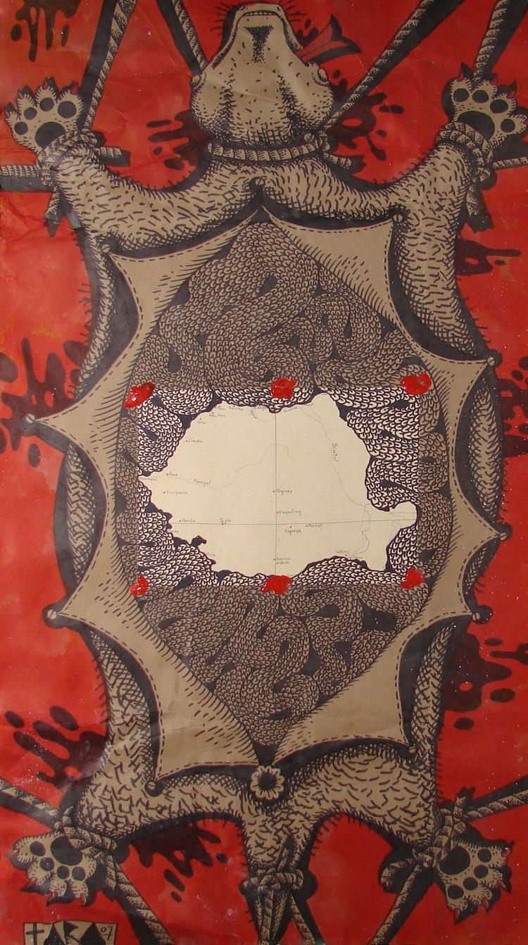 Tara - Romania, desen, 88 x 47 cm, 2007