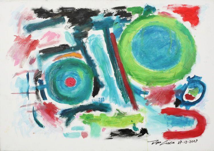 1922. ROTATIE (100 x 70 cm_ ulei pe panza_ Breaza_ 2009)