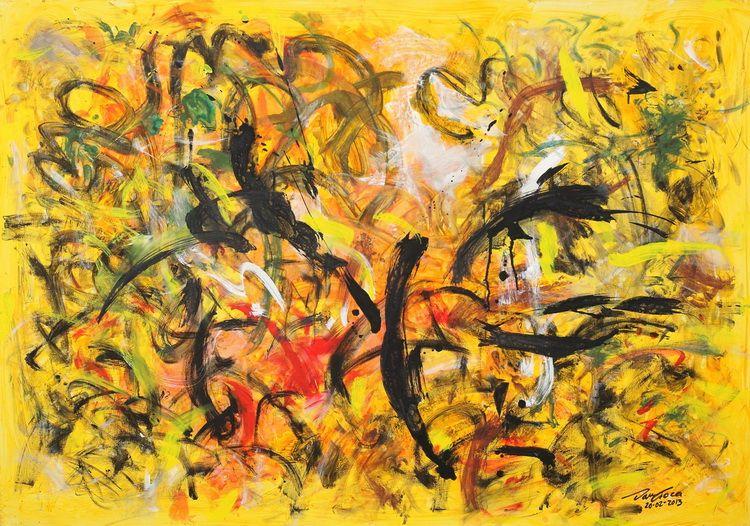 1929. HACIATURIAN - Dansul sabiilor (140 x 100 cm_ acrilic pe panza_ Breaza_ 2013)