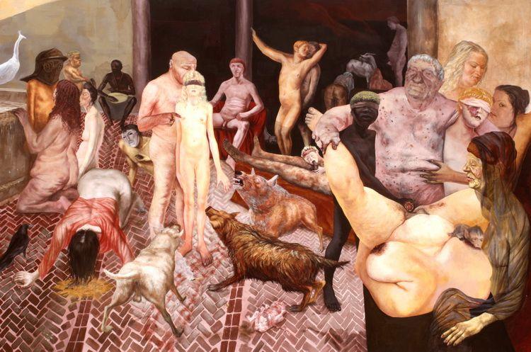 Alexandru Radvan - Cancer, acrilic pe panza, 200 x 300 cm, 2007.jpeg