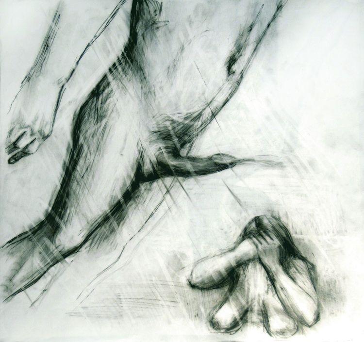 Alexandru Radvan, Huldigung des Judas X, Kopierstift auf Papier, 44x45.5 cm, 2007