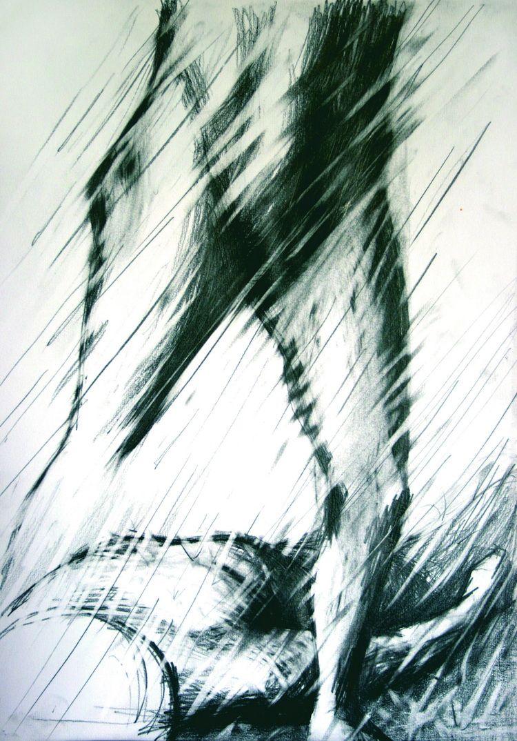 Alexandru Radvan, Huldigung des Judas XXVIII, Kopierstift auf Papier, 42x29 cm, 2008