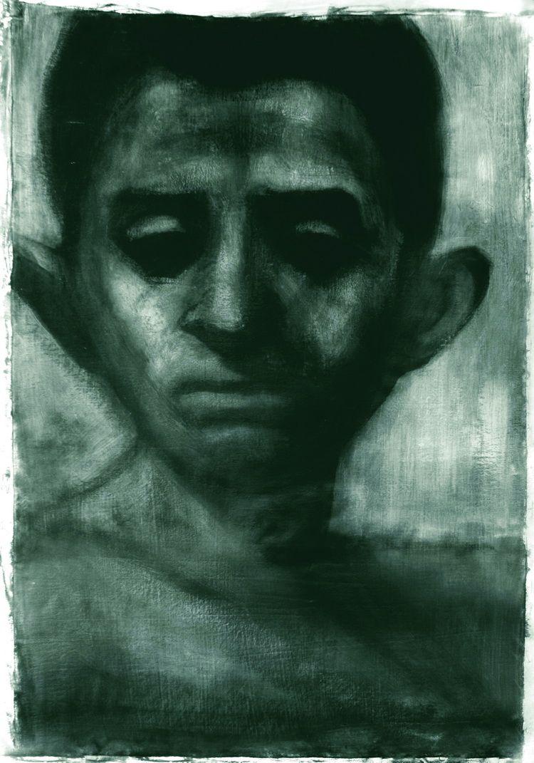 Alexandru Radvan, Nuclear Morgen, Acrylic auf Leinwand, 107x78 cm, 2007