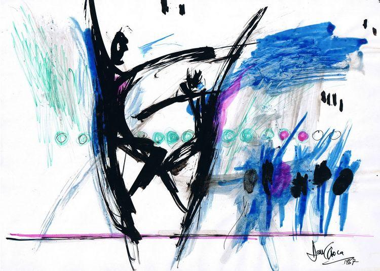 Baletul Francez la Bucuresti, tus si cerneala pe hartie, A4, 1967