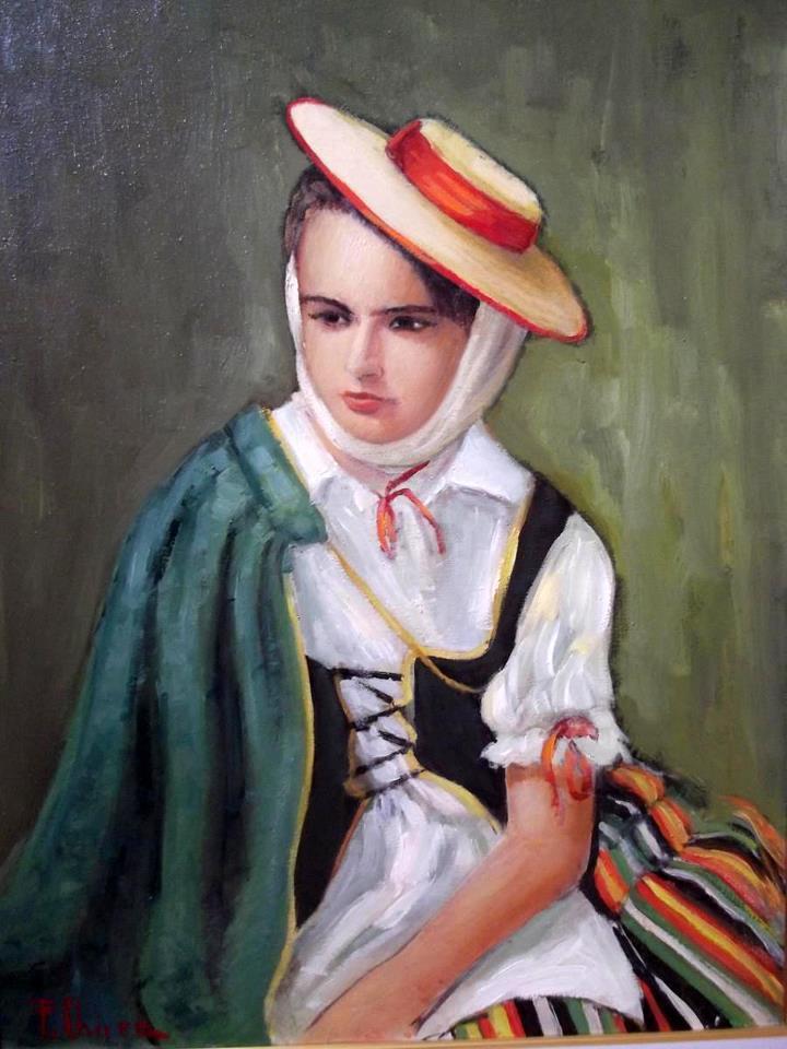 tanara in costum spaniol