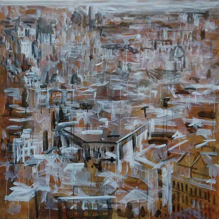 22. ROMA corpo urbano, 2012, olio su tela, 120-120cm n