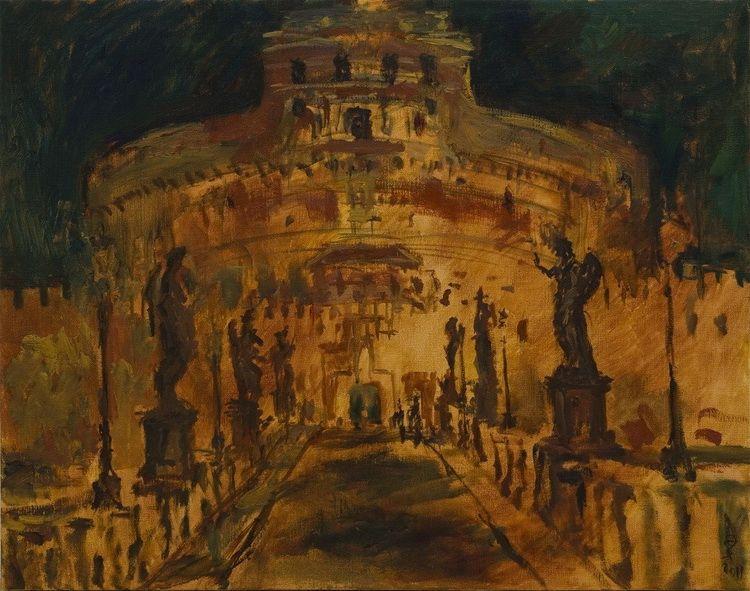 23. ROMA corpo urbano notturno,olio su tela,90-70cm, 2011 n