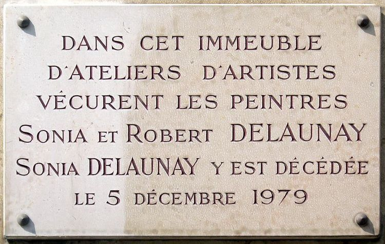 Plaque_Sonia_et_Robert_Delaunay,_16_rue_de_Saint-Simon,_Paris_7