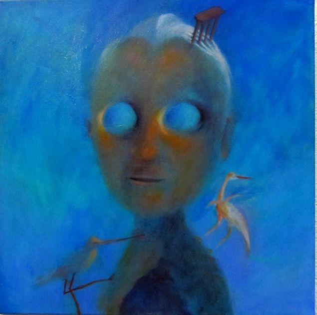 portret cu ochi de cer