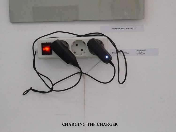 K. charging the charger