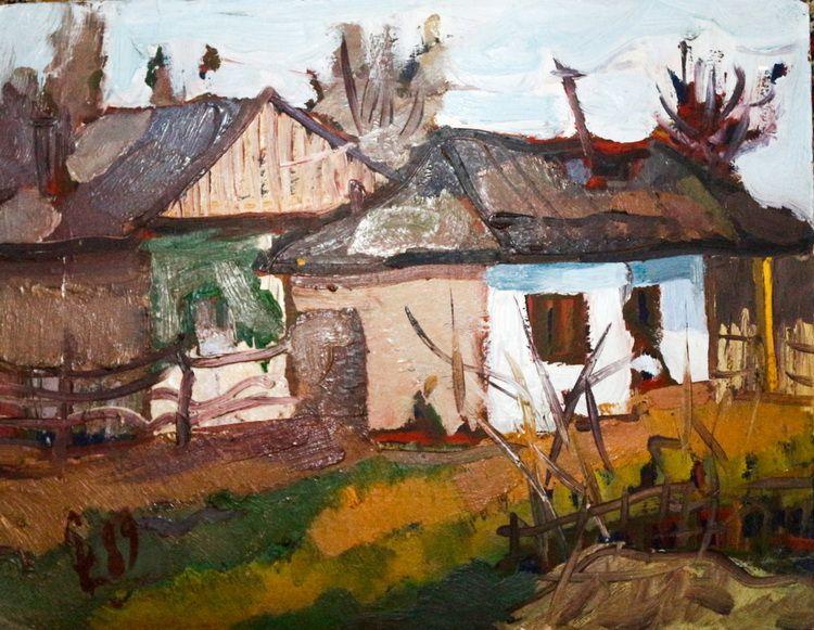 Liviu Cornescu-Peisaj cu case