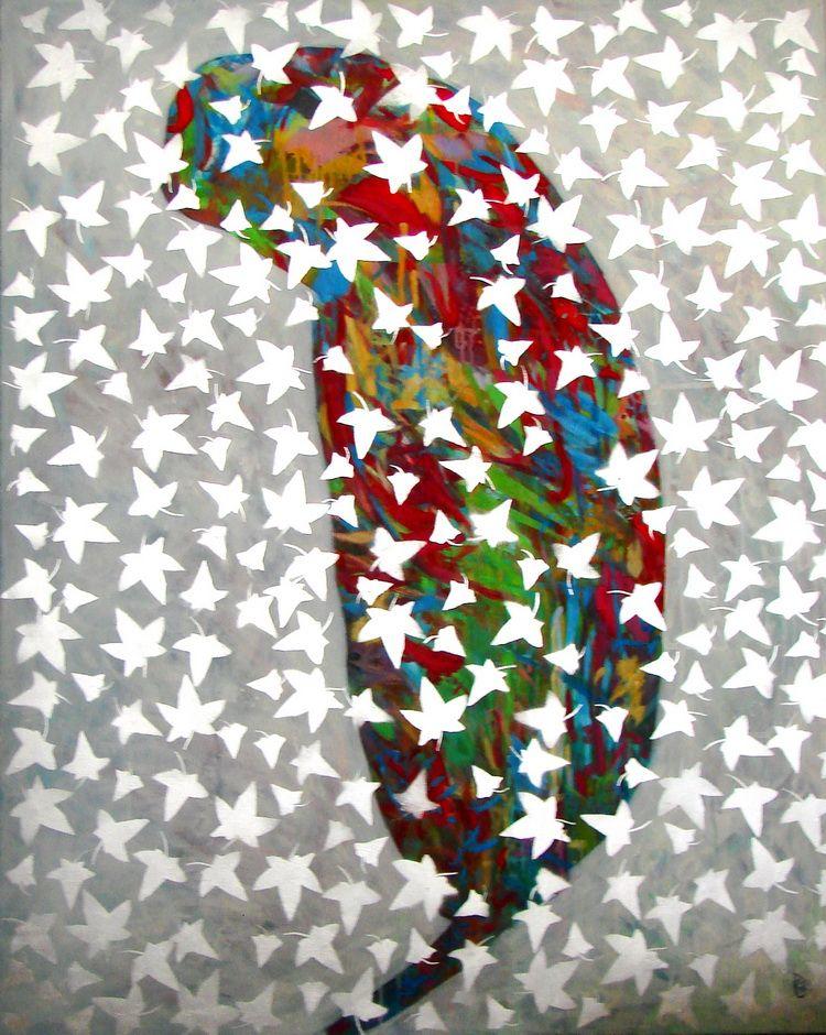 Culorile aerului, acrylic pe panza, 150 x 120 cm