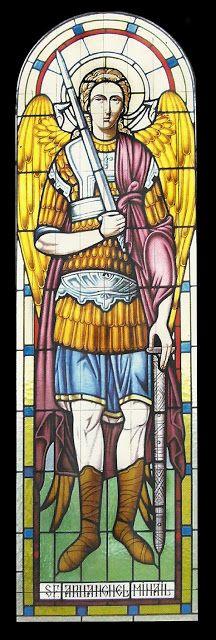 Ioan Cadar SF ARHANGHEL MIHAIL, vitraliu religios