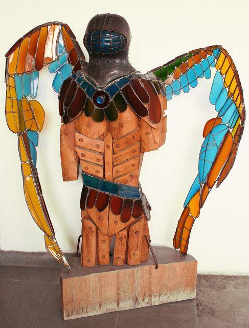 Ioan Cadar Zburator, sculptura