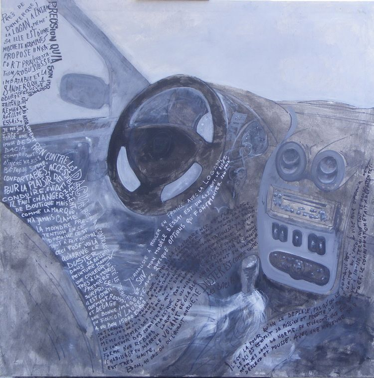 Dacia écriture légende