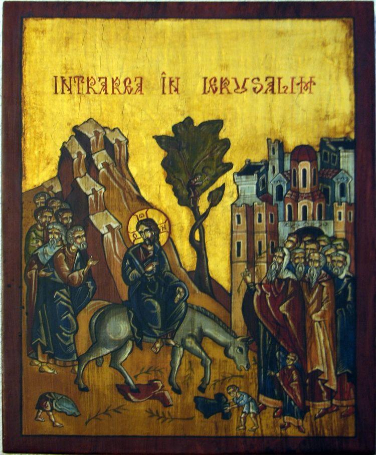 d)INTRAREA IN IERUSALIM, t pe l, 35x20 cm, PISA 2003, galeria La Spina