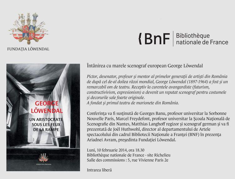 INVITATIE BNF PARIS