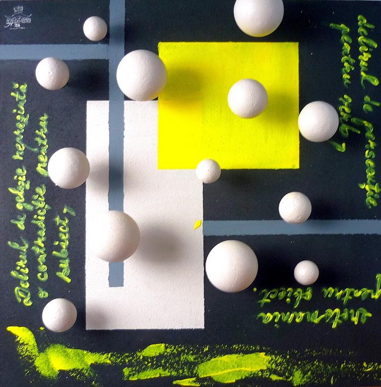 13 Bucățele de crack meditative contemplând IDEEA, 2012 Obiect-asamblaj, contine inserții din studiile lui Sigmund Freud