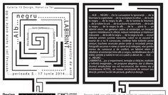 invitatie expozitia Alb Negru Labirinbt