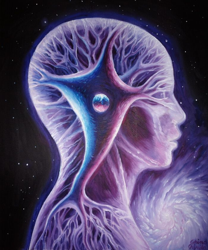 Arborele mental pictura ulei pe panhza - The tree of the mind oil on canvas painting