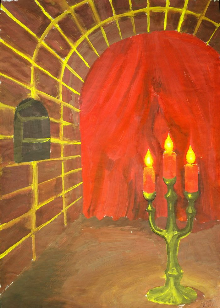 Decor romantic cu lumanari aprinse pictura