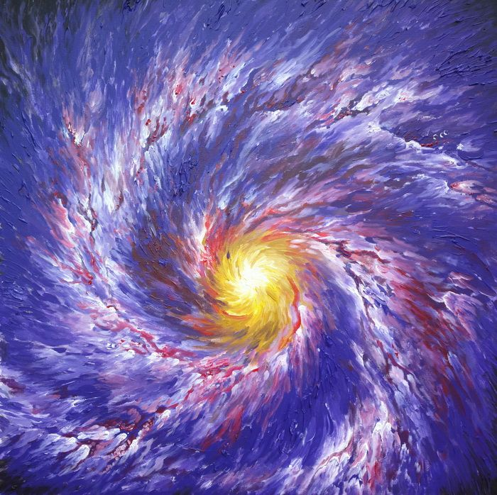 Galaxie pictata in centrul vechi - Galaxy painting