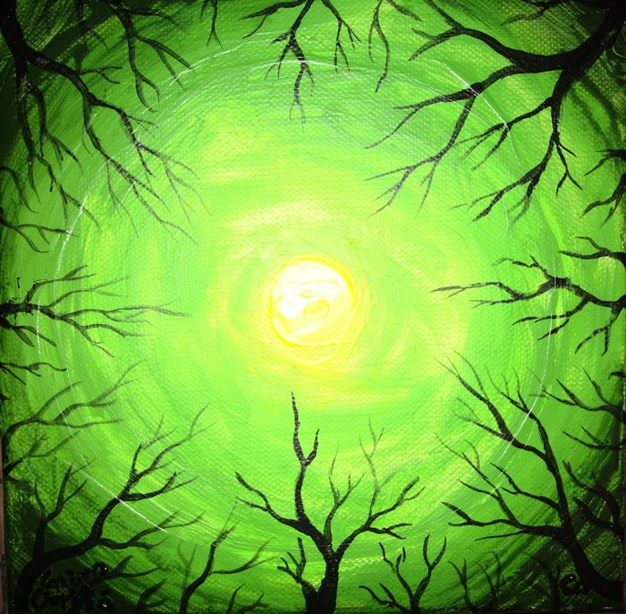 Light of the forest fluorescent painting - sorele padurii pictura fluorescenta