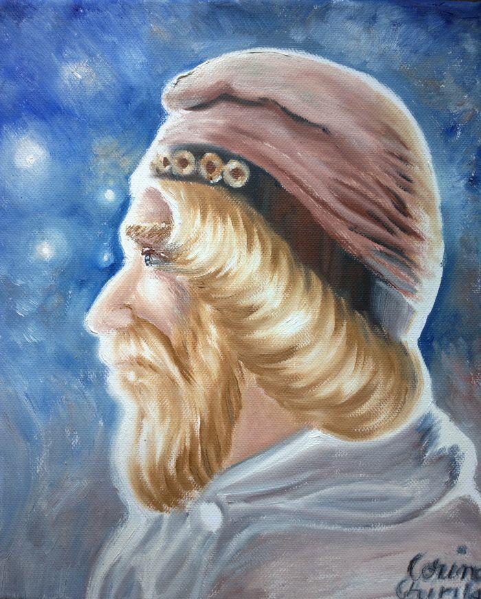 Portretul lui Burebista pictura ulei pe panza