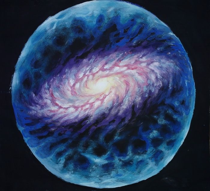 Sfera de plasma din jurul galaxiei noastre pictura - Plasma sphere around the galaxy painting