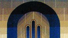 """Cela Neamtu, """"Arcada cerului"""", tapiserie, haute-lissce"""