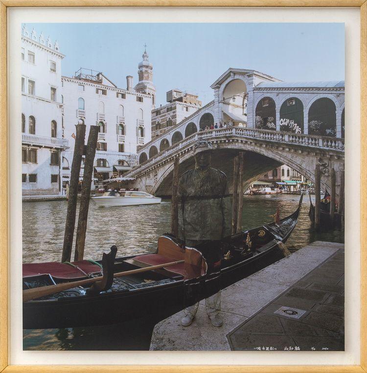 Liu Bolin,Canal Grande_Venezia