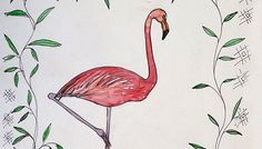 flamingo_ acuarela si penita pe hartie_autor Alina  Manoleb