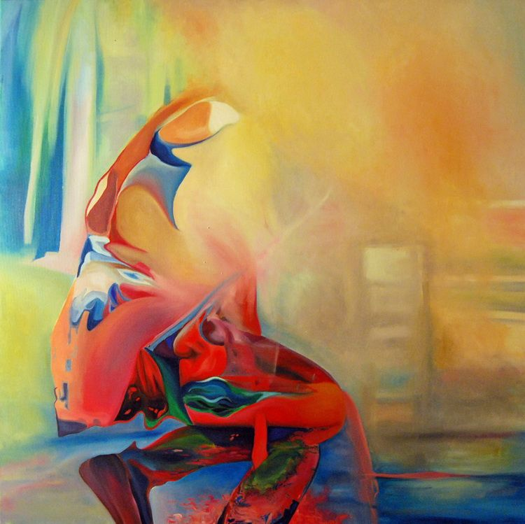 Dancing-soul,-100-100cm,-2015,-oil-on-canvas