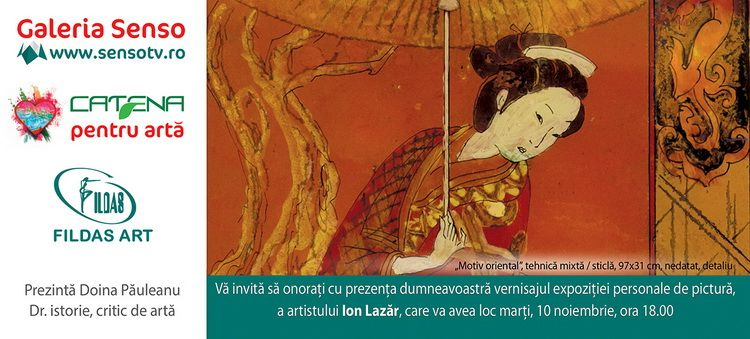 Invitatie expozitie ION LAZAR laGaleria SENSO