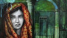 Pascale Nesson_Zanoubia Reine de Syrie_collage_canvas_60_60cm_Gernik 2015_resivze